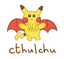 Cthulchu - Cthulhu Pikachu Photographic Print