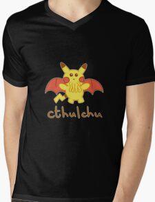 Cthulchu - Cthulhu Pikachu Mens V-Neck T-Shirt
