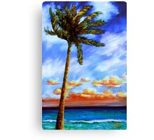 Caribbean Palm Canvas Print