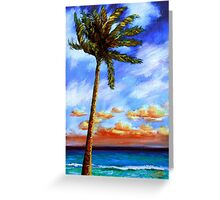Caribbean Palm Greeting Card