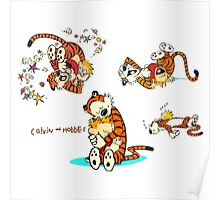 Calvin and Hobbes love moment Poster