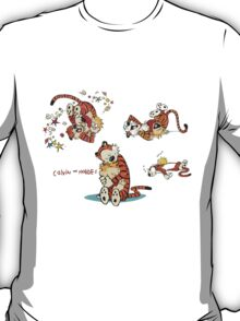 Calvin and Hobbes love moment T-Shirt