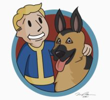 """A Vault Boy and His Dog"" Kids Clothes"