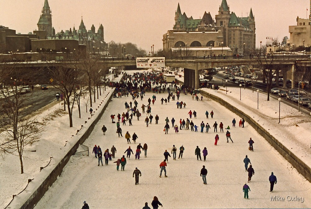 Skating on the Canal 1993 by Mike Oxley