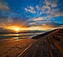 Sunset at Cottesloe 4 by Alex Asbury