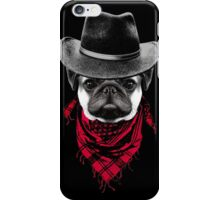 Cowboy Pug iPhone Case/Skin