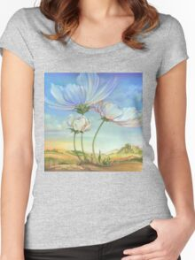 In the Half-shadow of Wild Flowers Women's Fitted Scoop T-Shirt