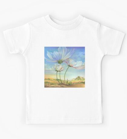 In the Half-shadow of Wild Flowers Kids Tee