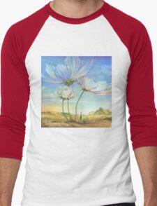 In the Half-shadow of Wild Flowers Men's Baseball ¾ T-Shirt