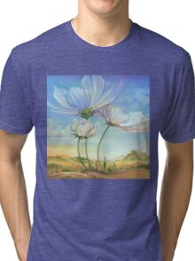 In the Half-shadow of Wild Flowers Tri-blend T-Shirt