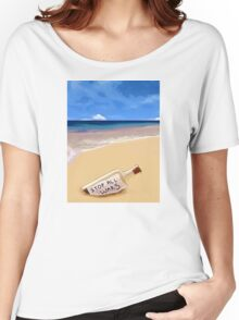 Message in the bottle Women's Relaxed Fit T-Shirt