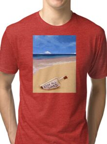 Message in the bottle Tri-blend T-Shirt