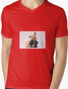 Easter Egg and Bunny Mens V-Neck T-Shirt