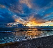 Sunset at Cottesloe 5 by Alex Asbury