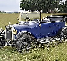 Old Blue Austin by Alex Hardie