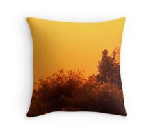 Red dust storm Throw Pillow