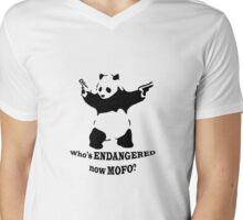 Who's endangered now MOFO?  (Small Print) Mens V-Neck T-Shirt