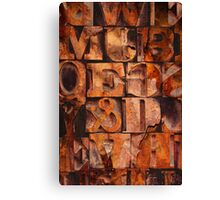 Block Letters Variation 1 Canvas Print