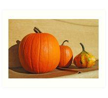 Autumn Harvest Still Life Art Print