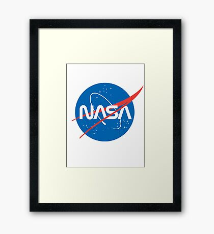NASA Future Retro Framed Print