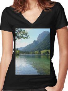 a wonderful Germany landscape Women's Fitted V-Neck T-Shirt