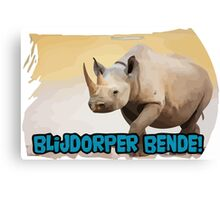 Blijdorper Bende Merch, from Facebook / wordpress blog Canvas Print