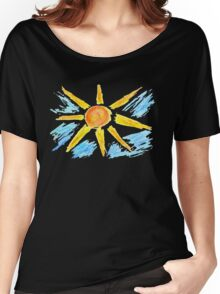 Hand Drawn Sun and Clouds Women's Relaxed Fit T-Shirt