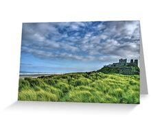 """""""Bamburgh Castle, Untamed Landscape"""" Greeting Card"""