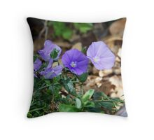 Purple Undergrowth Throw Pillow