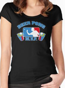 Beer Pong mvp Funny TShirt Epic T-shirt Humor Tees Cool Tee Women's Fitted Scoop T-Shirt