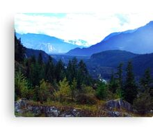 Coast Mountains,B.C. Canvas Print