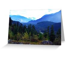 Coast Mountains,B.C. Greeting Card