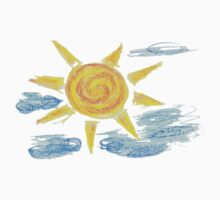 Hand Drawn Sun and Clouds 2 Kids Clothes