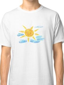 Hand Drawn Sun and Clouds 2 Classic T-Shirt