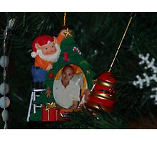 My Dad At ChristmasTime Photographic Print