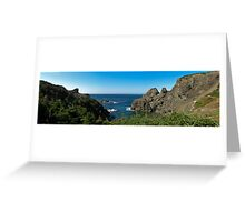 The Cliffs of Sunset Cove Greeting Card