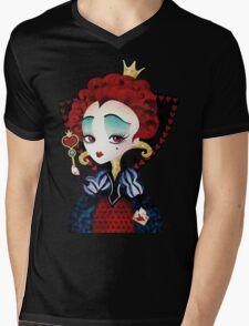 Queen of Hearts Mens V-Neck T-Shirt