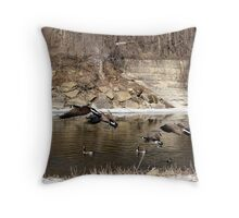 Flying Geese Throw Pillow