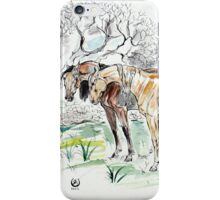 """""""Landscape with horses"""" iPhone Case/Skin"""