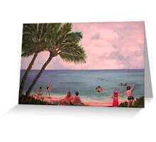 """Beach Sunset"" - end of an idyllic day Greeting Card"
