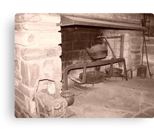 Old fireplace Canvas Print