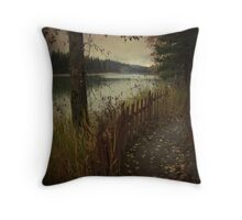 river fraser Throw Pillow
