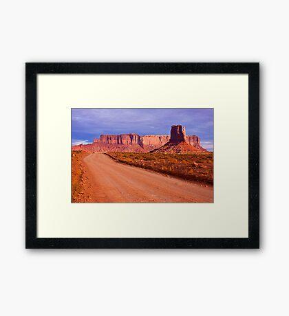 Monument Valley Road Framed Print