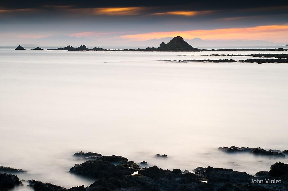 Kaikoura Range at Sunset by John Violet