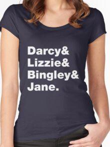 Darcy & Lizzie & Bingley & Jane. Women's Fitted Scoop T-Shirt