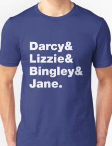 Darcy & Lizzie & Bingley & Jane. T-Shirt