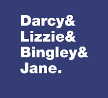 Darcy & Lizzie & Bingley & Jane. Womens Fitted T-Shirt