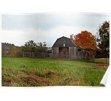 Barn In Autumn Poster