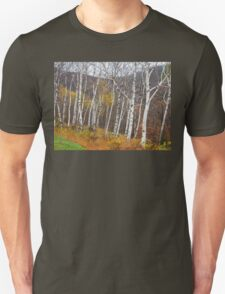 Birch Trees Impression of New England Unisex T-Shirt