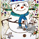 snowman and friends by LoreLeft27